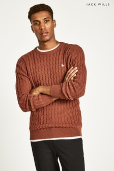 Jack Wills Ginger Marlow Cable Crew