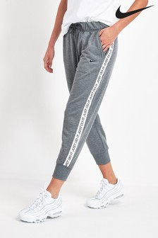 Nike Grey Get Fit Taped Logo Joggers