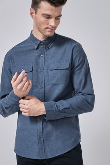 Brushed Flannel Twin Pocket Shirt