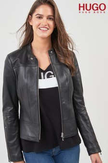 HUGO by Hugo Boss Leather Jacket