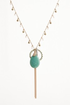 Stone Cluster Necklace