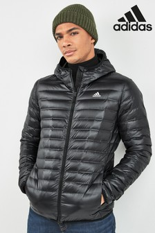 adidas Black Varilite Hooded Down Jacket