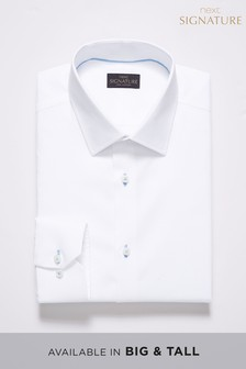 Signature Regular Fit Single Cuff Contrast Stitch Shirt