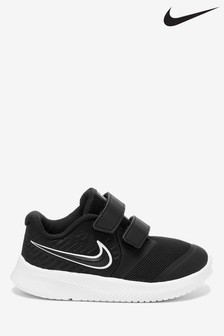 Nike Run Black/White Star Runner Infant Trainers