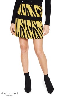 Damsel In A Dress Multi Lia Zebra Knit Skirt