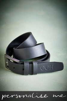 Personalised Matt Leather Belt