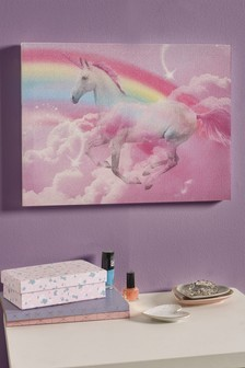 Glitter Digital Unicorn Canvas