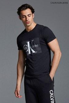 חולצת טי עם לוגו של Calvin Klein Jeans דגם Monogram