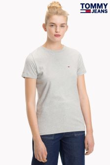 Tommy Jeans Womens Grey Classic T-Shirt