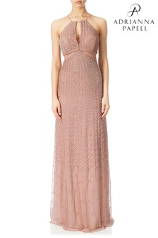 فستان خرز حول الرقبة من Adrianna Papell