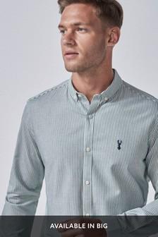 חולצת סטרץ' מכופתרת עם שרוולים ארוכים