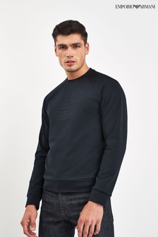 Emporio Armani Navy Chest Logo Sweater