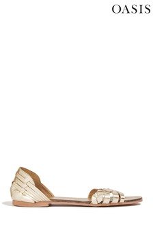 Oasis Gold Twisted Haurache Sandal