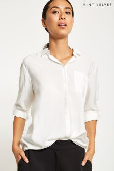Mint Velvet Cream Boyfriend Shirt