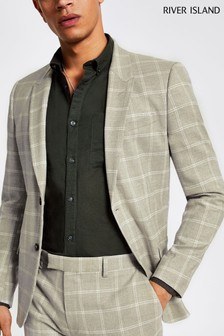 River Island Summer Check Suit Jacket