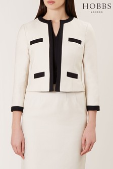 Hobbs Cream Alison Jacket