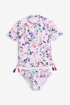 Clothing, Shoes & Accessories Frugi 3-6 Months Swimming Costume Blue Flower Frill Baby Girl