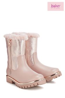 baker by Ted Baker Pink Ankle Zip Boot