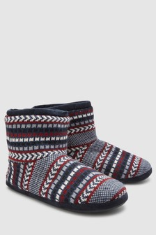 Chevron Knitted Boot