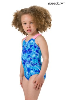 Speedo® Frozen Navy Printed Swimsuit