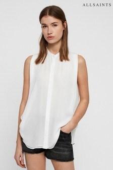 AllSaints White Wing Blouse