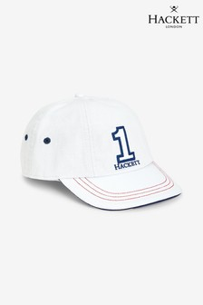 Hackett White Kids Number 1 Cap
