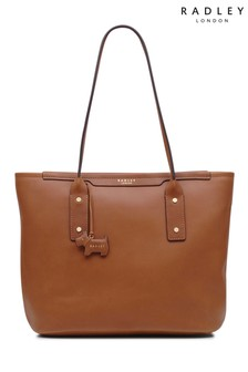 Radley Tan Medium Tote Shoulder Zip Top Bag