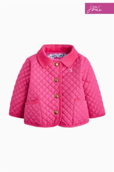 Joules Pink Baby Mabel Quilted Jacket