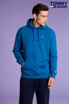 Tommy Jeans Mens Blue Classics Hoody