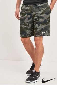 "Nike Train 9"" Camo-Shorts, Grau"