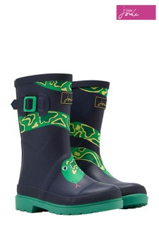 Joules Navy Snake Printed Welly
