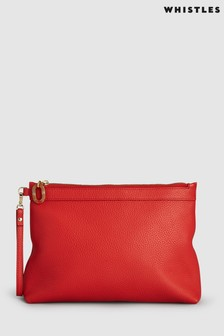 Pochette Whistles Chester zippée rouge