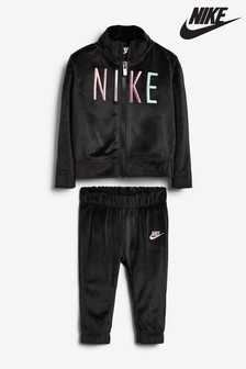 Nike Infant Black Velour Tracksuit