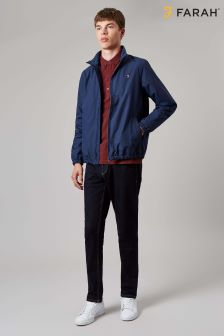 Farah Blue Olsen Zip Light Weight Jacket
