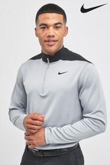 Nike Golf Grey AeroLayer 1/2 Zip Top