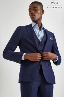 Moss London Skinny Fit Blue Jacket