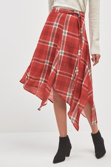 Check Asymmetric Skirt