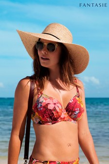 Fantasie Red Floral Anguilla Underwire Full Cup Bikini Top