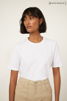 Warehouse White Premium Short Sleeve T-Shirt