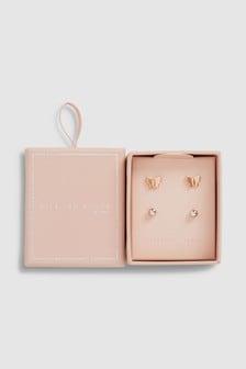 Butterfly Stud Earrings Two Pack