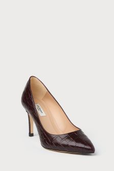 L.K.Bennett Bordeux Floret Closed Court Shoe