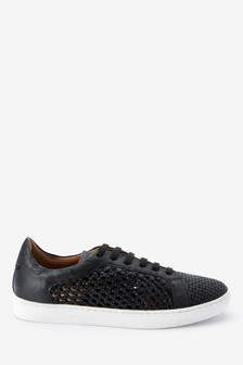 Signature Comfort Leather Weave Trainers