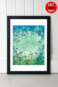 Moon Garden by Fiona Watson Framed Print