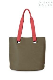 Oliver Bonas Green Leia Tote Bag