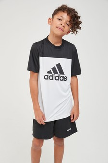 adidas Performance White Logo Tee