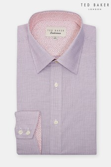 58d2b889eac4a Ted Baker Pink Zigzag Shirt