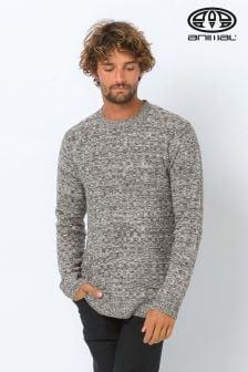Animal Grey Basket Knitted Jumper