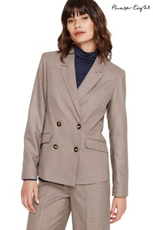 Phase Eight Cream Heritage Check Jacket