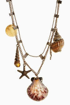 Shell Charm Two Layer Necklace