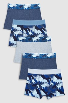 Dinosaur Camo Trunks Five Pack (2-12yrs)